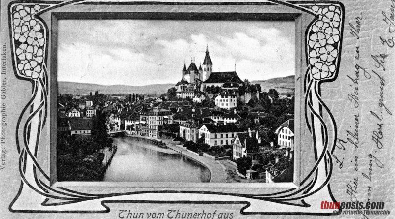 Postkarte Schloss Thun