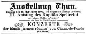 Täglicher Anzeiger für Thun vom 06. September 1899