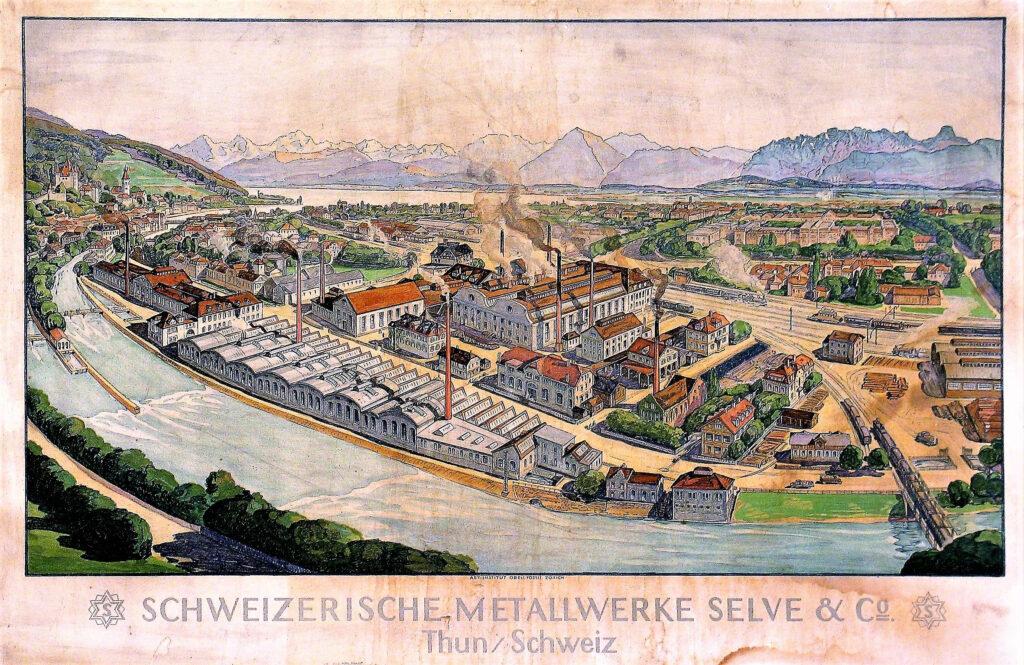 Selve Thun Wandbild von 1920