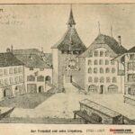 Der Freienhof und der Sinniplatz. 1782-1807 - zum Vergrössern anklicken
