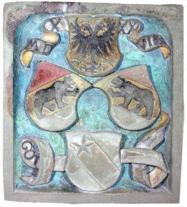 Restaurierter Wappenstein des ehemaligen Scherzligtors, Bild: Kantonale-Denkmalpflege, Bestand: Schlossmuseum Thun