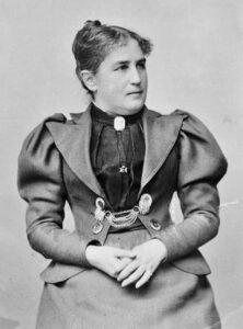 Fanny Martha Elisabeth Itten (1873-1958) Aufnahme von Jean Moeglé Thun, am 26 .Januar 1899