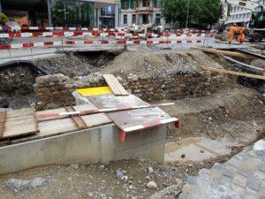 Teile des alten Stadtgrabens an der Grabenstrasse/Berntorplatz. 28.05.2018